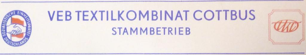 VEB Textilkombinat Cottbus (TKC)